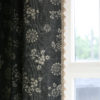 Charcoal Anya Curtain and Fan Edge Natural