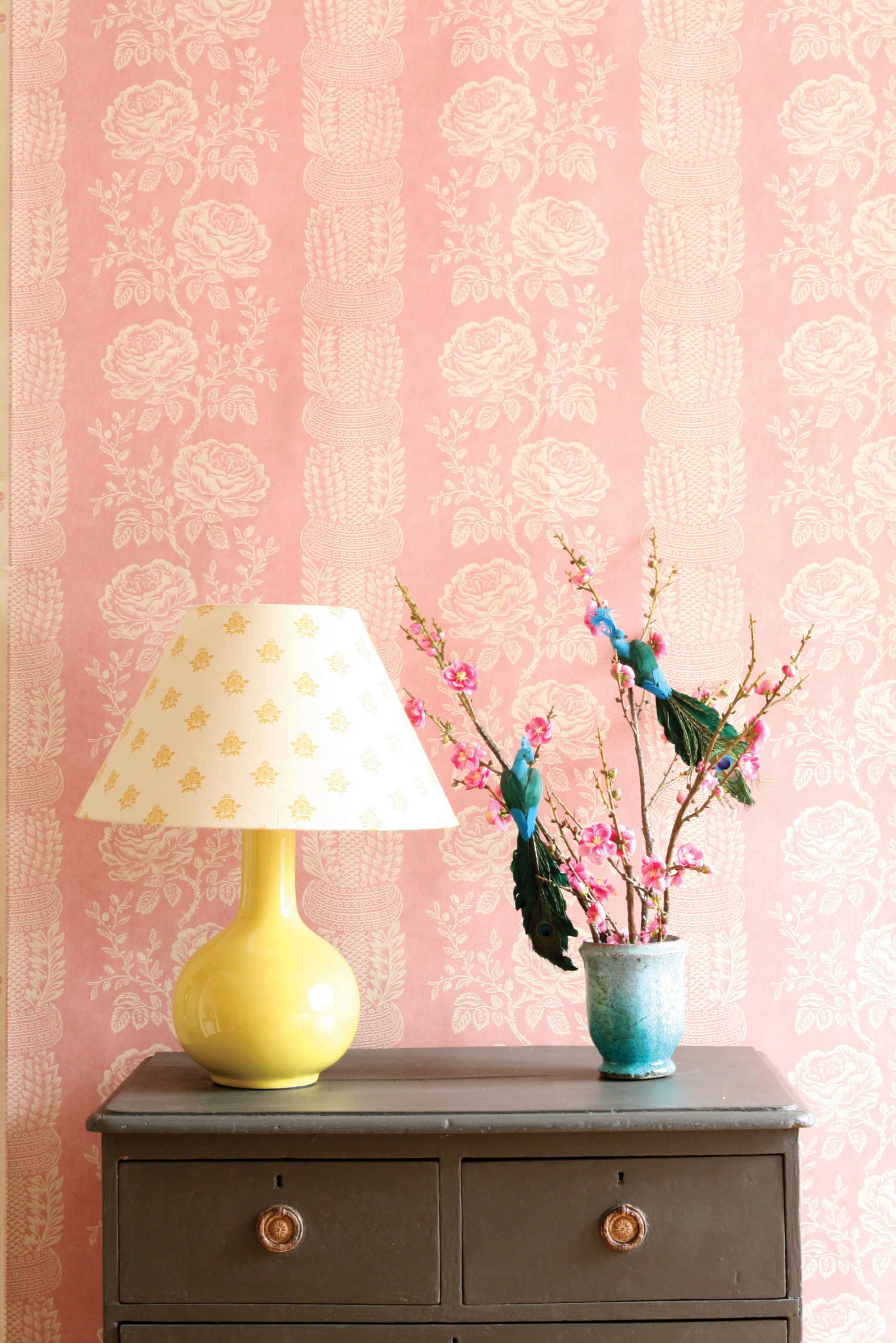 Delilah Wallpaper & Neisha Saffron Shade
