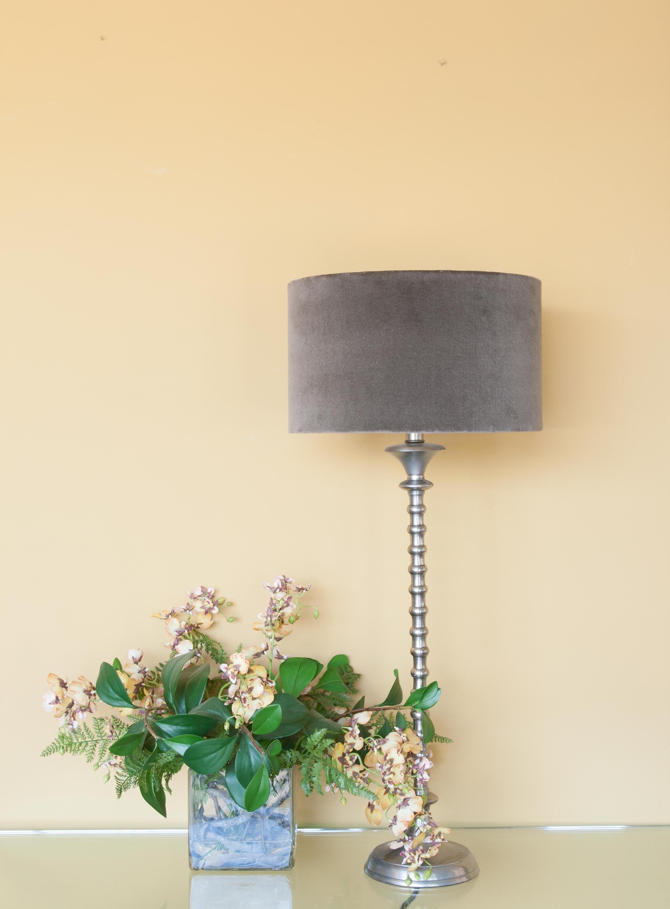 small cylinder velvet shade