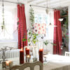 Thelma Red Curtains