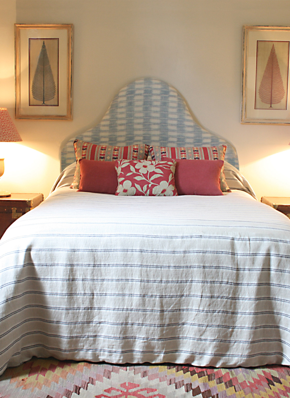 Indigo-Stripe-Bedspread