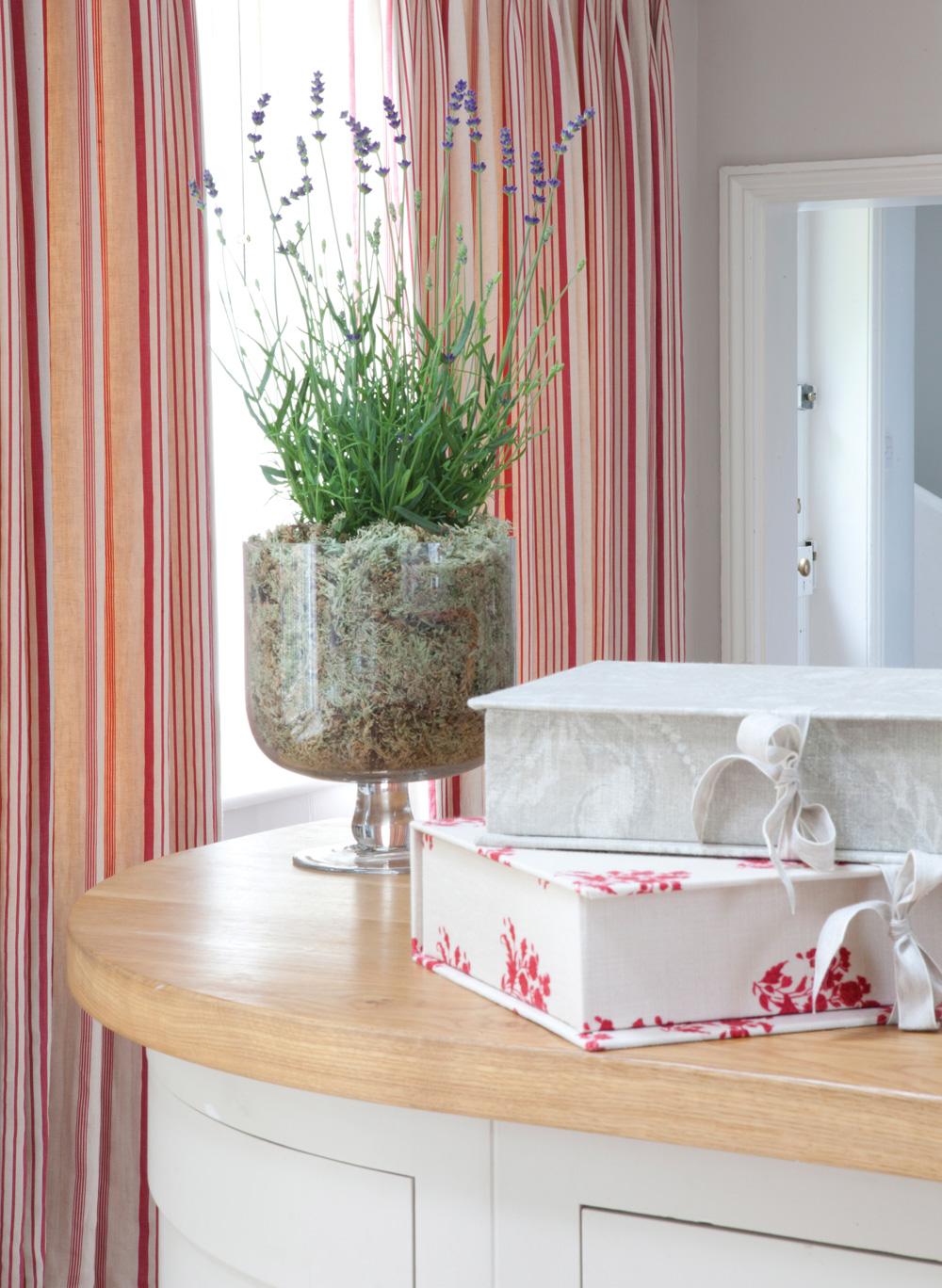 Red-Ticking-Curtains