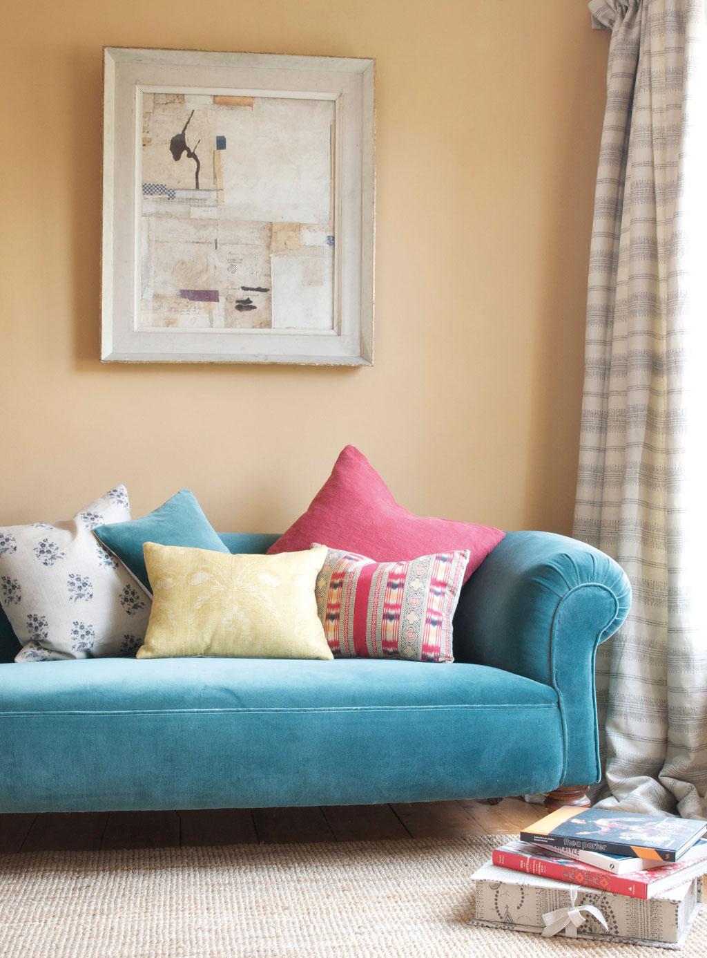 Velvet Teal Sofa