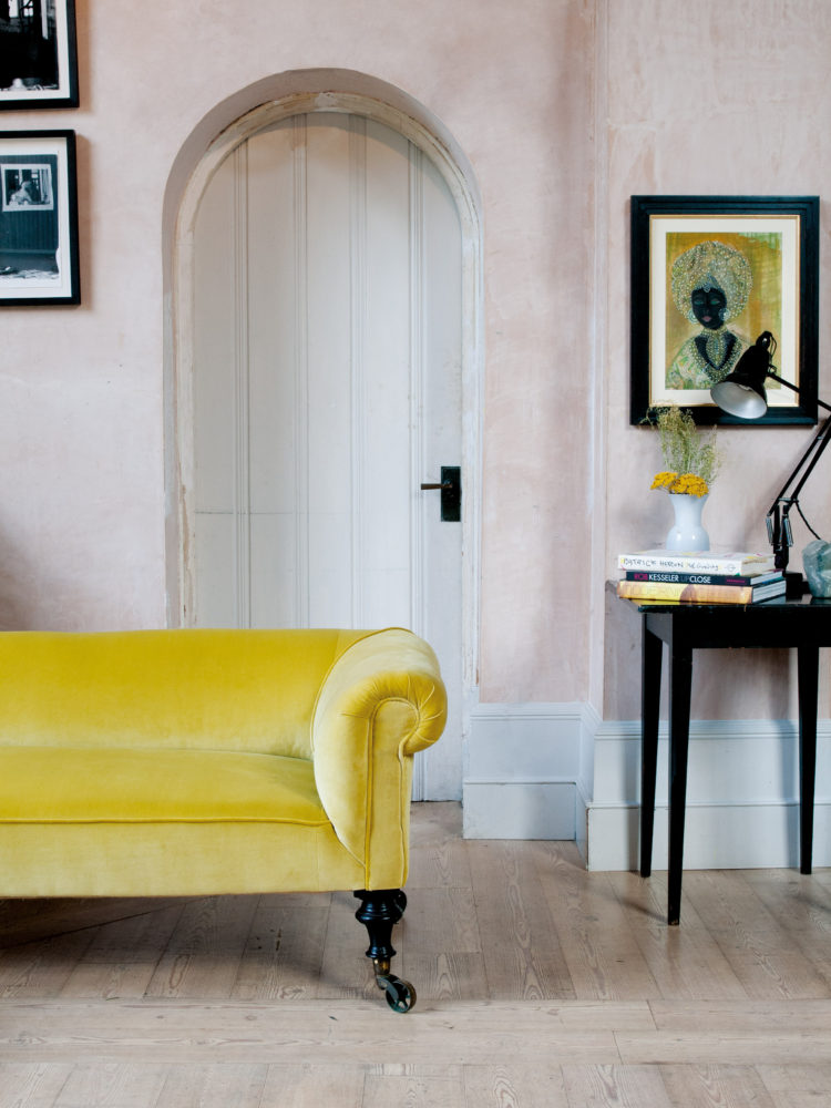 ... Yellow Velvet Sofa. Shop This Item