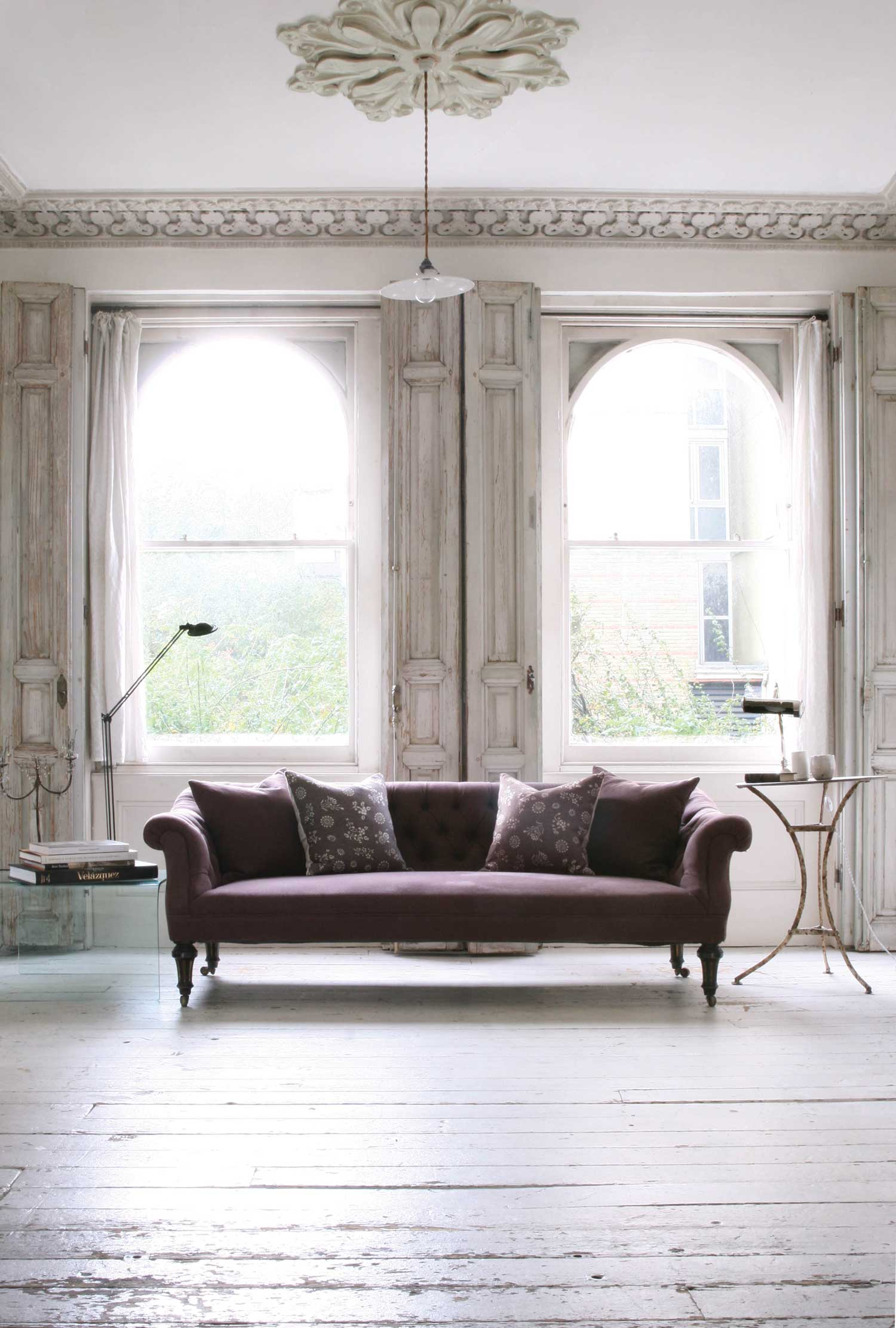 Aubergine-Sofa