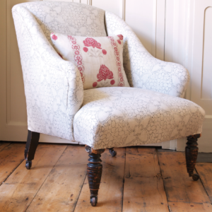 Charcoal Manon Chair with Red Cushion copy