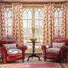 Malika Red Curtains