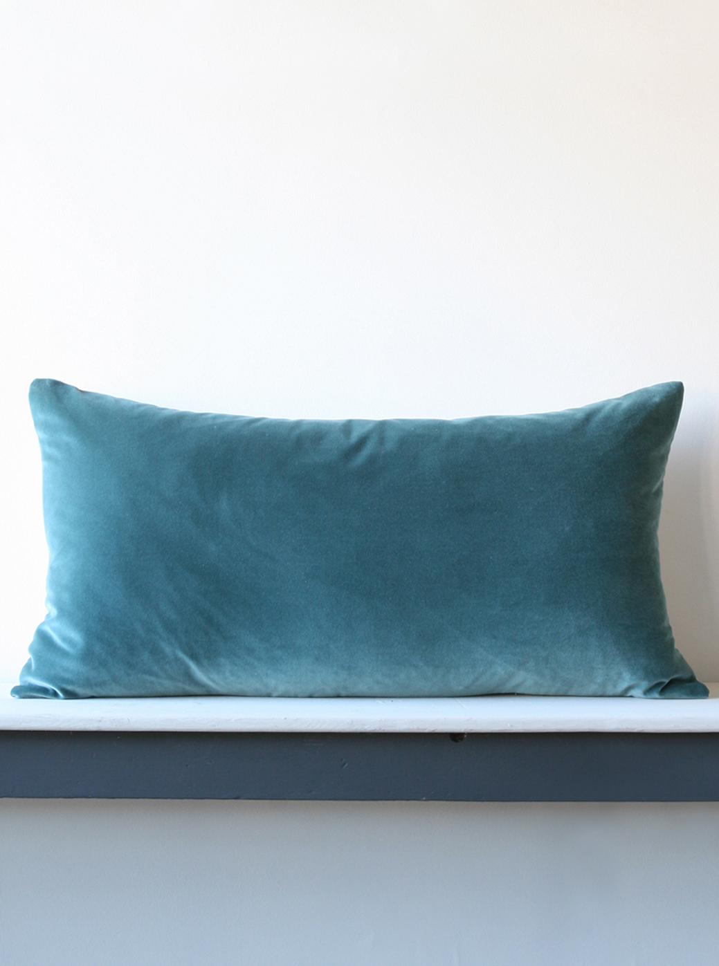 Large Thin Cushion 83cm X 43cm Velvet Unpiped Kate Forman