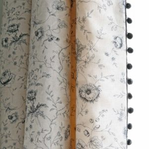 Antoinette-Indigo-Curtain-with-Charcoal-Pop-Pom