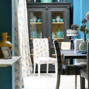 Blue-Malika-Curtains-in-Blue-Kitchen