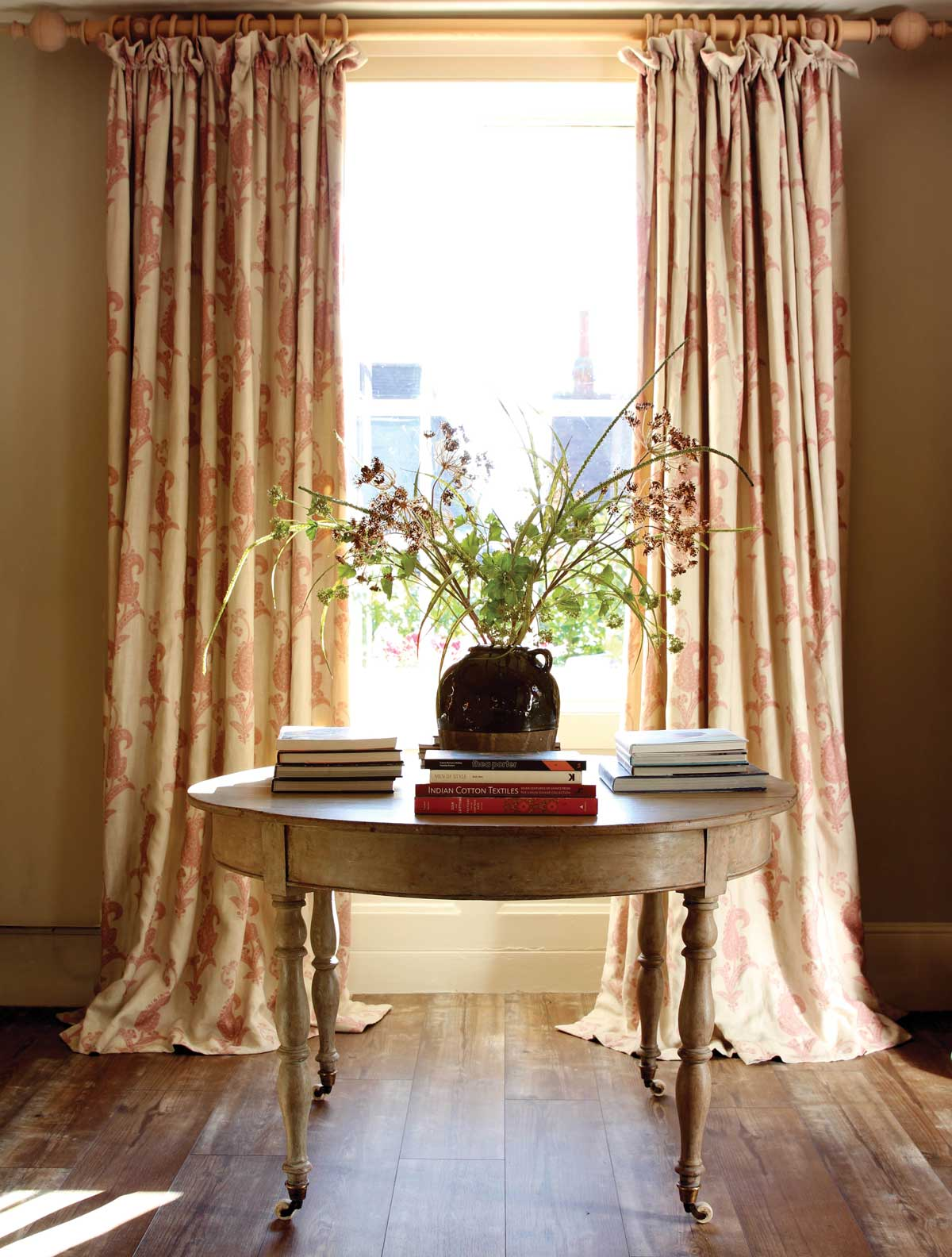Maizie-Red-Curtains-Hall