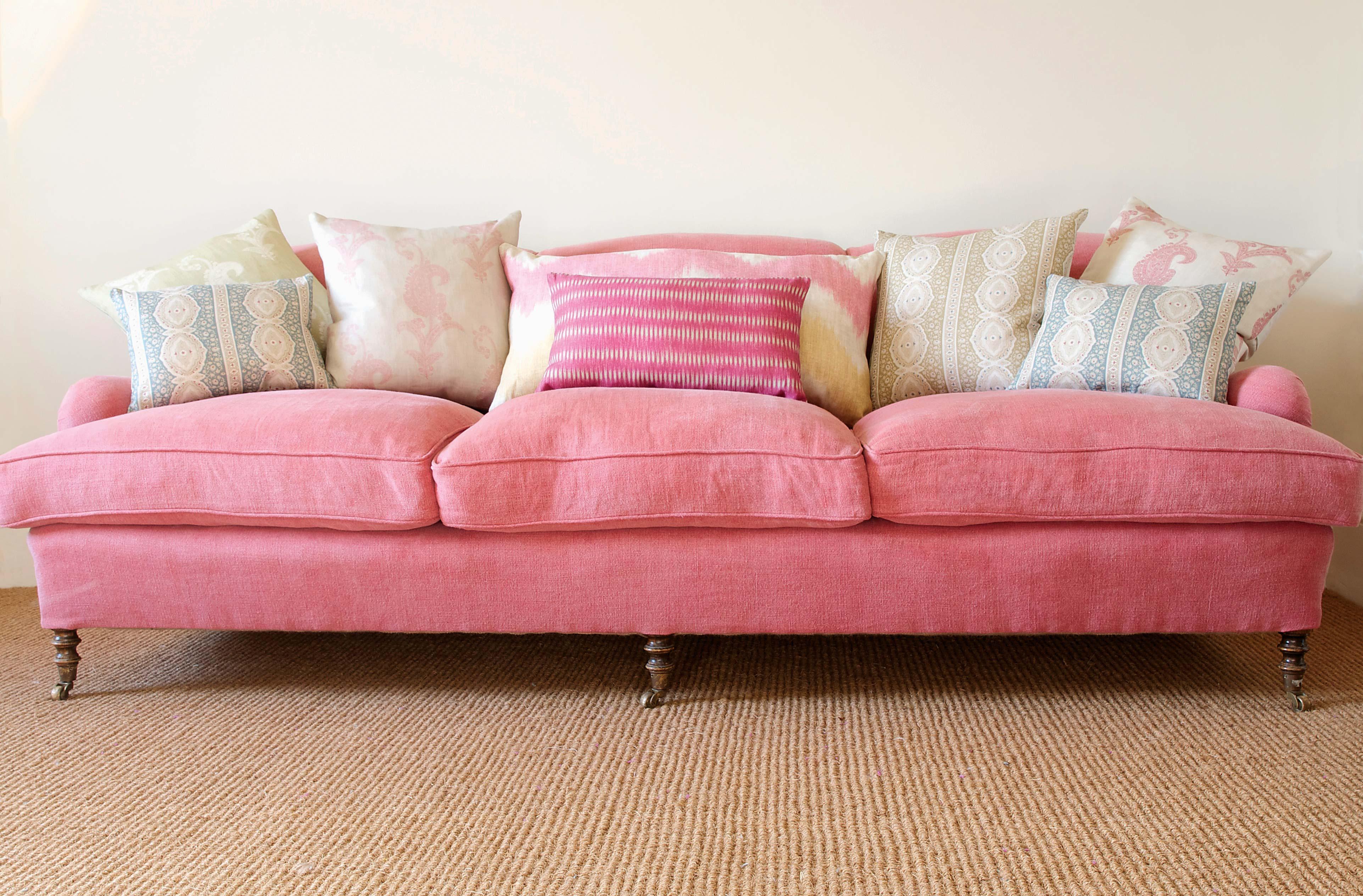 old rose sofa true