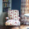 Malika Red Chair and Savannah Curtains