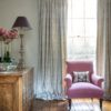 Old Rose Pink Chair and Josephine Stone Curtain