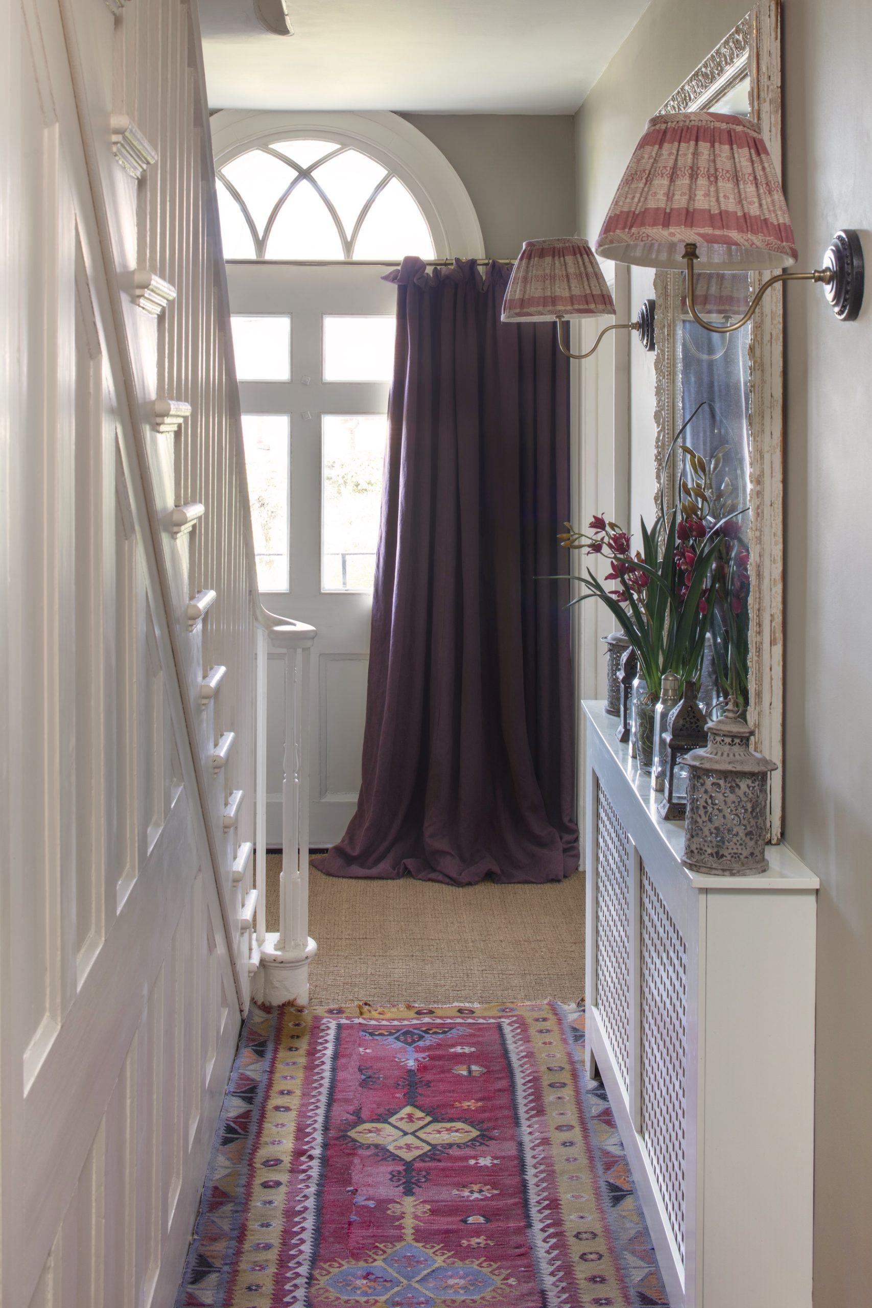 aubergine stonewash doorway