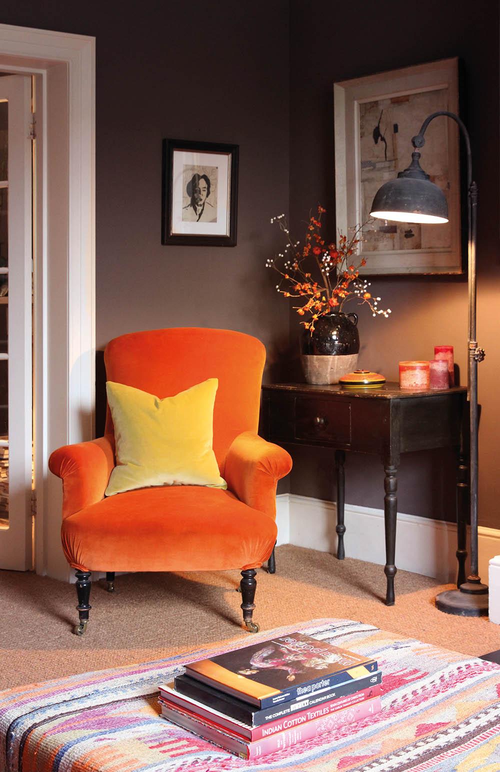 Orange Velvet Roomset